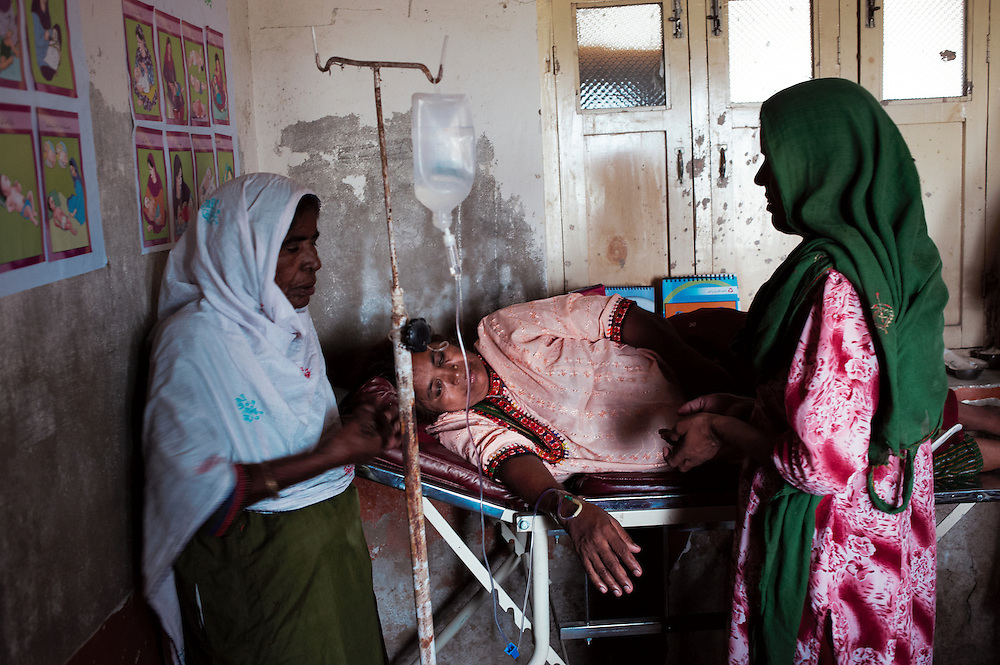 Janat Saleh, 60 years old has diabetes and is being treated in the government health clinic in the village of Sheer Ali Shah, Thatta, Sindh, Pakistan on July 1, 2011.