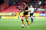 Bradford City defender Nat (Nathaniel) Knight-Percival (22) dribbling and starting an attack during the EFL Sky Bet League 1 match between Charlton Athletic and Bradford City at The Valley, London, England on 14 March 2017. Photo by Matthew Redman.