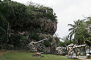 the Last Command Post - Japanese bunker built into seaside cliff - site of last resistance to American invasion during World War II, Saipan, Commonwealth of Northern<br /> Mariana Islands, Micronesia ( Western Pacific Ocean )
