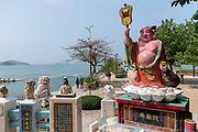 Money God at Repulse Bay pier, Hong Kong Island, China.