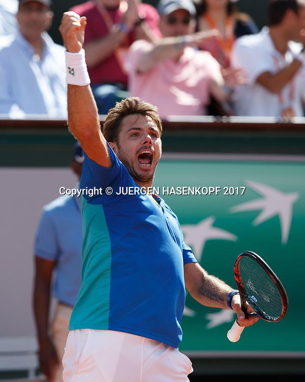 STAN WAWRINKA (SUI)<br /> <br /> Tennis - French Open 2017 - Grand Slam / ATP / WTA / ITF -  Roland Garros - Paris -  - France  - 9 June 2017.