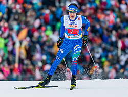 24.02.2019, Seefeld, AUT, FIS Weltmeisterschaften Ski Nordisch, Seefeld 2019, Nordischen Kombination, Teambewerb, Langlauf, im Bild Aaron Kostner (ITA) // Aaron Kostner of Italy during the cross country for the team competition Nordic Combined of FIS Nordic Ski World Championships 2019. Seefeld, Austria on 2019/02/24. EXPA Pictures © 2019, PhotoCredit: EXPA/ Stefan Adelsberger