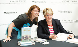 Clare Balding <br /> Personal appearance and book signing for her new book My Animals and Other Family at Waterstone's book shop, Jubilee Place, Canary Wharf, London, Great Britain <br /> 18th September 2012 <br /> <br /> Clare Balding <br /> <br /> Photograph by Elliott Franks
