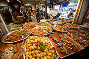 Chatuchak Sunday Market. Traditional Thai food stall.