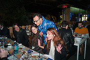 VADMIM GRIGORIAN, CHIARA FUMAI,  Absolut Art Bureau Dinner at Base 13. Documenta ( 13 ), Kassel, Germany. 14 September 2012.