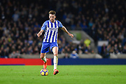 Brighton and Hove Albion midfielder Dale Stephens (6) looks to release the ball during the Premier League match between Brighton and Hove Albion and Stoke City at the American Express Community Stadium, Brighton and Hove, England on 20 November 2017. Photo by David Charbit.