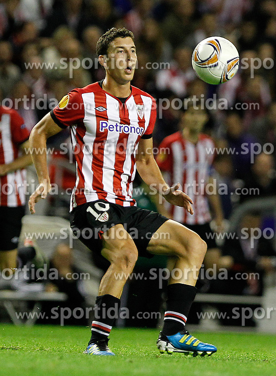 20.10.2011, San Mames Stadion, Bilbao, ESP, UEFA EL, Gruppe F, Athletic Bilbao (ESP) vs RB Salzburg (AUT), im Bild Athletic de Bilbao's Oscar de Marcos  // during UEFA Europa League group F match between Athletic Bilbao (ESP) vs RB Salzburg (AUT) at San Mames Stadium, Bilbao, Spain on 20/10/2011. EXPA Pictures © 2011, PhotoCredit: EXPA/ Alterphoto/ Acero +++++ ATTENTION - OUT OF SPAIN/(ESP) +++++