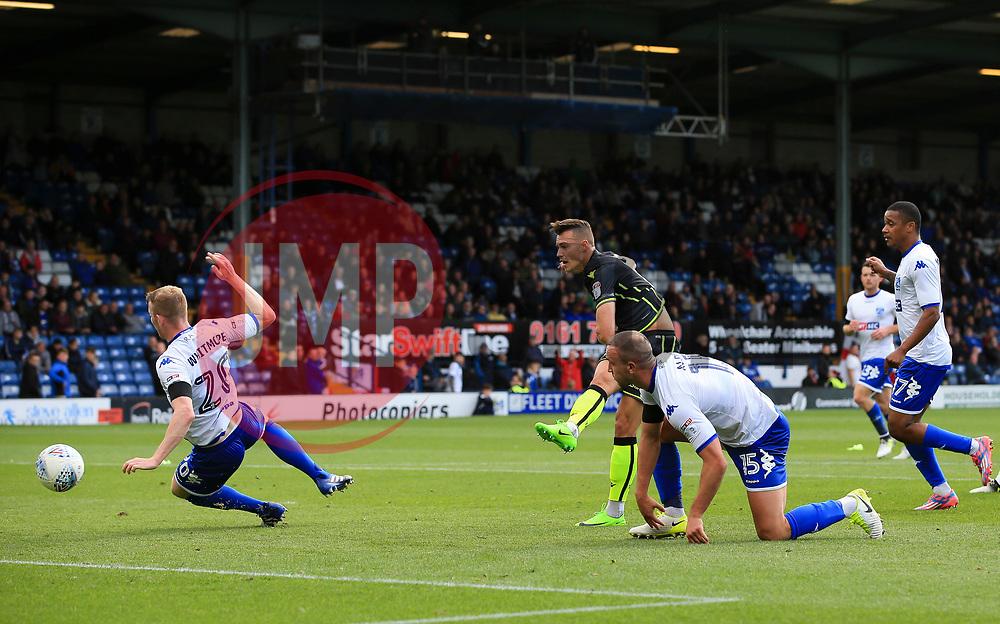 Billy Bodin of Bristol Rovers scores his sides third goal  - Mandatory by-line: Matt McNulty/JMP - 19/08/2017 - FOOTBALL - Gigg Lane - Bury, England - Bury v Bristol Rovers - Sky Bet League One