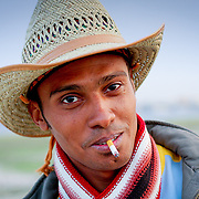 Marlboro man smoking in cowboy hat, Egypt (January 2008)