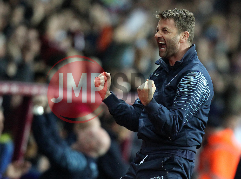 Aston Villa Manager, Tim Sherwood celebrates Aston Villa's Christian Benteke's second goal - Photo mandatory by-line: Robbie Stephenson/JMP - Mobile: 07966 386802 - 07/04/2015 - SPORT - Football - Birmingham - Villa Park - Aston Villa v Queens Park Rangers - Barclays Premier League