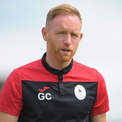 TELFORD COPYRIGHT MIKE SHERIDAN Gavin Cowan during the National League North fixture between Kettering Town and AFC Telford United at Latimer Park on Saturday, August 3, 2019<br /> <br /> Picture credit: Mike Sheridan<br /> <br /> MS201920-005