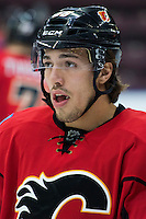 PENTICTON, CANADA - SEPTEMBER 16: Ryan Lomberg #56 of Calgary Flames stands on the ice against the Winnipeg Jets on September 16, 2016 at the South Okanagan Event Centre in Penticton, British Columbia, Canada.  (Photo by Marissa Baecker/Shoot the Breeze)  *** Local Caption *** Ryan Lomberg;