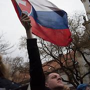 Protests in Bratislavia