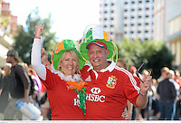22 June 2013; British & Irish Lions supporters Maria and Malcolm Grace, from Corbally, Limerick, in Brisbane ahead of the game. British & Irish Lions Tour 2013, 1st Test, Australia v British & Irish Lions. Brisbane, Queensland, Australia. Picture credit: Stephen McCarthy / SPORTSFILE