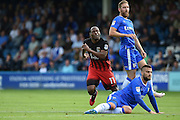 Coventry City midfielder Kyel Reid (11) reels away after scoring (0-1) during the EFL Sky Bet League 1 match between Gillingham and Coventry City at the MEMS Priestfield Stadium, Gillingham, England on 24 September 2016. Photo by Martin Cole.