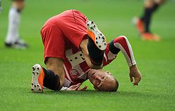 Fussball 1. Bundesliga :  Saison   2010/2011   26. Spieltag  12.03.2011 FC Bayern Muenchen - Hamburger SV Arjen Robben (FC Bayern Muenchen)  xxNOxMODELxRELEASExx