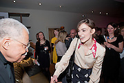 JAMES EARL JONES; KEIRA KNIGHTLEY   The Society of London Theatre lunch for all the nominees for the 2010 Laurence Olivier Awards. Haymarket Hotel, 1 Suffolk Place, London, 2 March 2010 *** Local Caption *** -DO NOT ARCHIVE-© Copyright Photograph by Dafydd Jones. 248 Clapham Rd. London SW9 0PZ. Tel 0207 820 0771. www.dafjones.com.<br /> JAMES EARL JONES; KEIRA KNIGHTLEY   The Society of London Theatre lunch for all the nominees for the 2010 Laurence Olivier Awards. Haymarket Hotel, 1 Suffolk Place, London, 2 March 2010