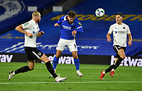 Football - 2020 / 2021 EFL Cup - Round Two - Brighton & Hove Albion vs Portsmouth<br /> <br /> Brighton & Hove Albion's Alexis Mac Allister scores the opening goal, at the Amex Stadium.<br /> <br /> COLORSPORT/ASHLEY WESTERN