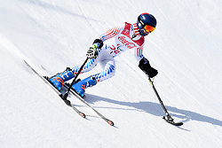 HARAGHEY Andrew LW1 USA competing in the Para Alpine Skiing Downhill at the PyeongChang2018 Winter Paralympic Games, South Korea