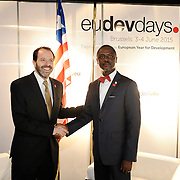 20150604- Brussels - Belgium - 04 June2015 - European Development Days - EDD  - Alex Thier Usaid and  Axel Addy Minister Liberia © EU/UE