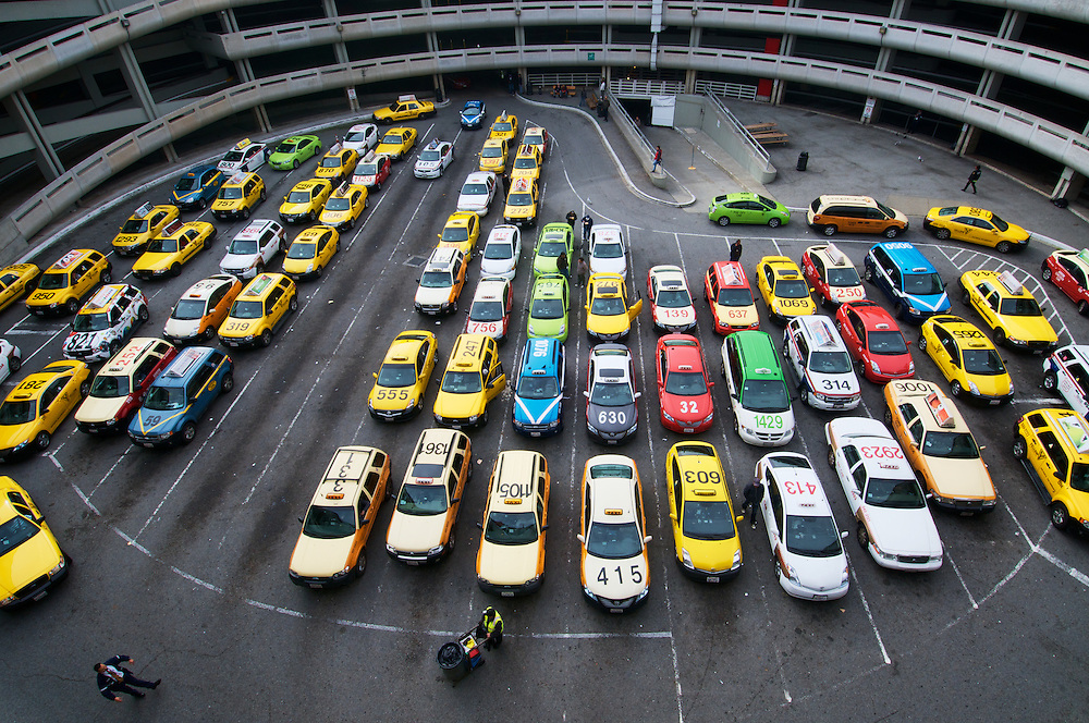 The Taxi Holding Area at San Francisco International Airport (SFO) | November 28, 2011