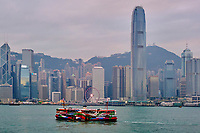 Chine, Hong Kong, Victoria Harbour, traversé entre Kowloon et Hong Kong à bord du Star Ferry // China, Hong Kong, Victoria Harbour, crossing from Central to Kowloon on Star Ferry