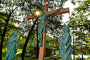 Christ on the cross at the Redemptorist Retreat Center near Oconomowoc, Wis. (Photo by Sam Lucero)