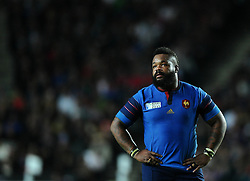Mathieu Bastareaud of France  - Mandatory byline: Joe Meredith/JMP - 07966386802 - 01/10/2015 - Rugby Union, World Cup - Stadium:MK -Milton Keynes,England - France v Canada - Rugby World Cup 2015