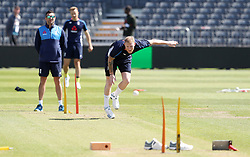 England's Ben Stokes during the nets session at the Bristol County Ground.