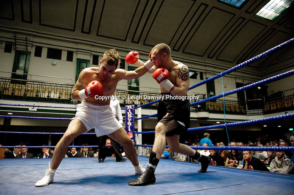 Caine Brodie defeats Adam Wilcox at York Hall 4th October 2009. Promoted by David Coldwell,Hayemaker Promotions Credit: ©Leigh Dawney Photography