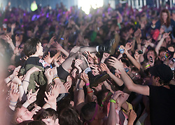 Alice Glass of Crystal Castles play the King Tut's Wah Wah Tent..T in the Park on Saturday 9th July 2011. T in the Park 2011 music festival takes place from 7-10th July 2011 in Balado, Fife, Scotland..©Pic : Michael Schofield.