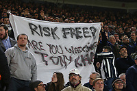 Football - 2018 / 2019 Premier League - Southampton vs. Fulham<br /> <br /> Fulham fans with a banner during the second half at St Mary's Stadium Southampton<br /> <br /> COLORSPORT/SHAUN BOGGUST
