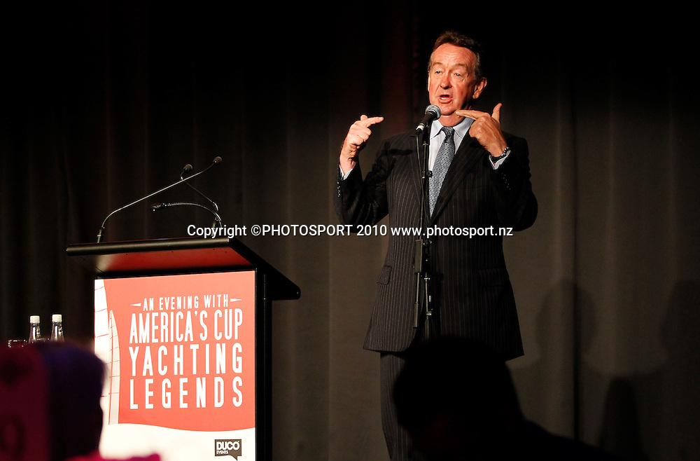 Sir Michael Fay. An Evening with America's Cup Legends, Asthma Fund raising dinner, Langham Hotel, Auckland, Friday 17 December 2010. Photo: Simon Watts/photosport.co.nz