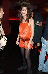DAISY FRASER at an Easter party hosted by Charlie Gilkes under the umbrella of his new PR/Events Company; 'Chic Vie' at trendy South Kensington Nightclub; 'Boujis' that is a favourite with Princes William and Harry and a host of other celebrities on 21st March 2005. Guests enjoyed a fruit martini reception on arrival and danced the night away until the early hours<br /><br />NON EXCLUSIVE - WORLD RIGHTS