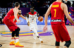 Marc Gasol of Spain and Ricky Rubio of Spain vs Dennis Schroder of Germany during basketball match between National Teams of Germany and Spain at Day 13 in Round of 16 of the FIBA EuroBasket 2017 at Sinan Erdem Dome in Istanbul, Turkey on September 12, 2017. Photo by Vid Ponikvar / Sportida