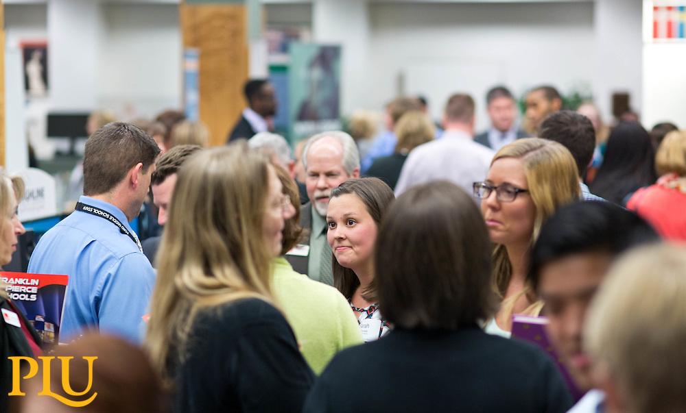 Education Career Fair at PLU on Wednesday, March 18, 2015. (Photo: John Froschauer/PLU)