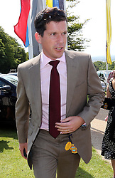 Tim Henman arriving  at Ladies Day at Glorious Goodwood in the UK , Thursday, 1st August 2013<br /> Picture by Stephen Lock / i-Images