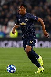 November 7, 2018 - Turin, Italy - Anthony Martial of Manchester United in action during the Group H match of the UEFA Champions League between Juventus FC and Manchester United FC on November 7, 2018 at Juventus Stadium in Turin, Italy. (Credit Image: © Mike Kireev/NurPhoto via ZUMA Press)