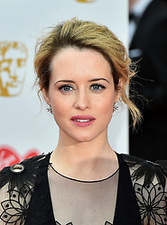 Claire Foy arriving for the Virgin TV British Academy Television Awards 2017 held at Festival Hall at Southbank Centre, London. PRESS ASSOCIATION Photo. Picture date: Sunday May 14, 2017. See PA story SHOWBIZ Bafta. Photo credit should read: Matt Crossick/PA Wire