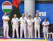 Referees<br /> Italy ITA (White cup) Vs Hungary HUN (Blue cup)<br /> Waterpolo Women's FINA Europa Cup<br /> Piscina Monte Bianco - Verona VR<br /> Photo Pasquale Mesiano/ Deepbluemedia /Insidefoto
