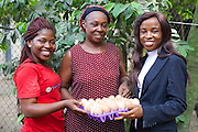 Peace (left) and Ifeoma (right) from Youth for Technology pictured here with Ijeoma.<br />