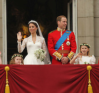 William & Kate; Duke & Duchess of Cambridge William & Kate Royal Wedding, London, UK, 29 April 2011:  Contact: Rich@Piqtured.com +44(0)7941 079620 (Picture by Richard Goldschmidt)