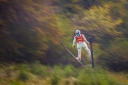 Klinec Ema during national competition in Ski Jumping, 8th of October, 2016, Kranj,  Slovenia. Photo by Grega Valancic / Sportida