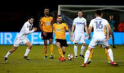 James Dunne of Cambridge United passes the ball - Mandatory by-line: Robbie Stephenson/JMP - 09/01/2017 - FOOTBALL - Cambs Glass Stadium - Cambridge, England - Cambridge United v Leeds United - FA Cup third round
