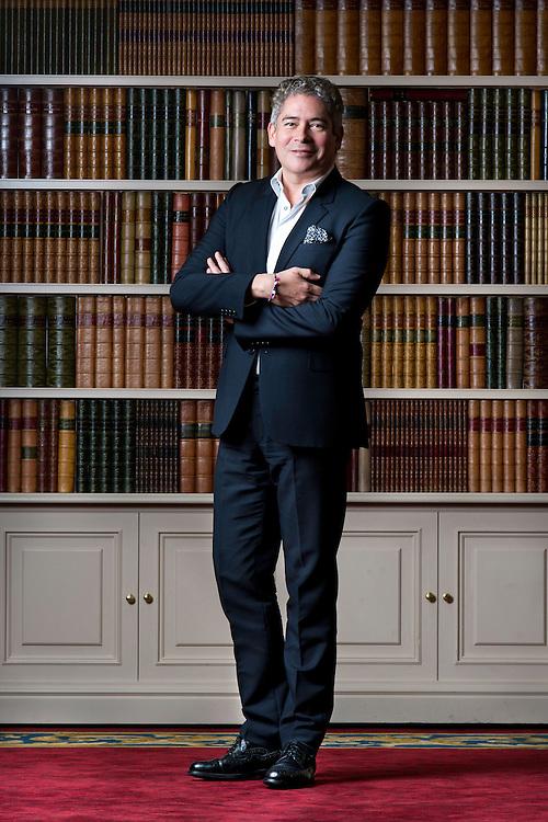 Boris Izaguirre, periodista y escritor.<br /> Hotel Wellington, Madrid.
