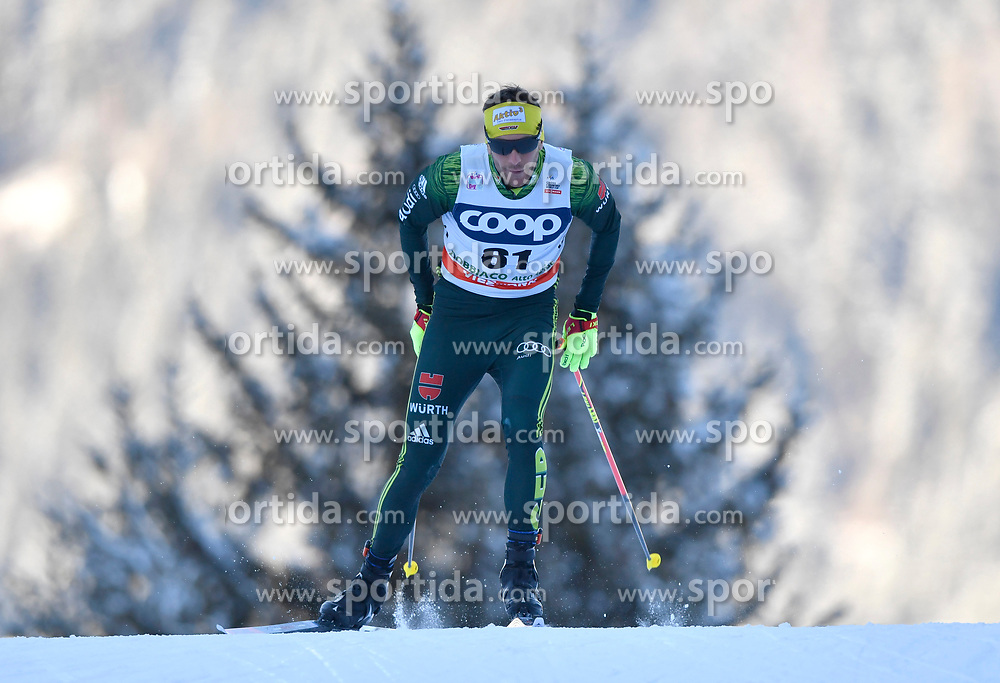 16.12.2017, Nordic Arena, Toblach, ITA, FIS Weltcup Langlauf, Toblach, Herren, 15 km, im Bild Andreas Katz (GER) // Andreas Katz of Germany during men's 15 km of the FIS Cross Country World Cup at the Nordic Arena in Toblach, Italy on 2017/12/16. EXPA Pictures &copy; 2017, PhotoCredit: EXPA/ Nisse Schmidt<br /> <br /> *****ATTENTION - OUT of SWE*****