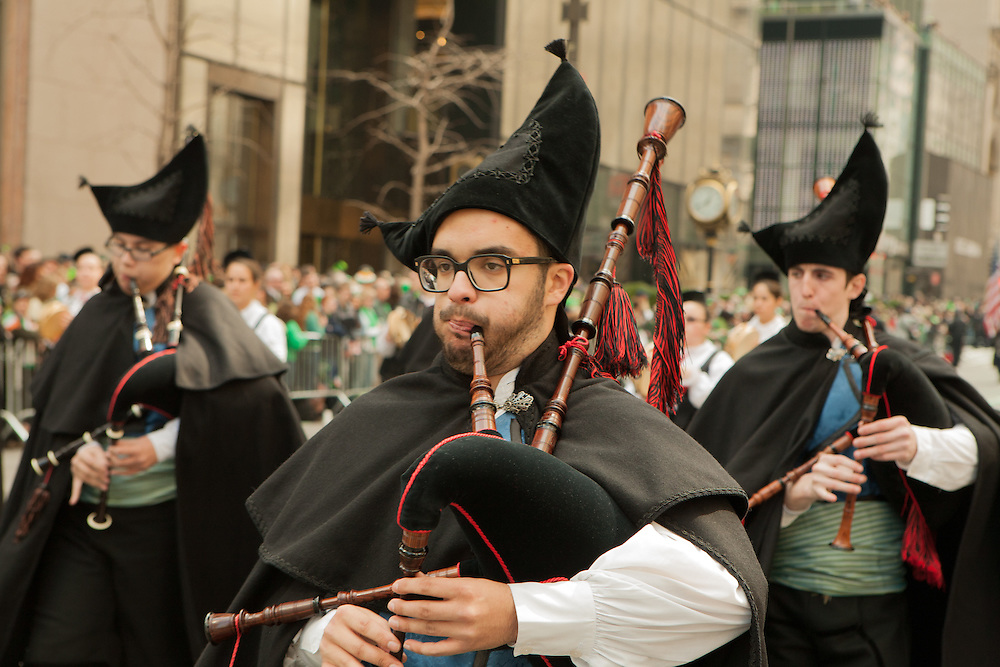 Galician pipers in the parade.