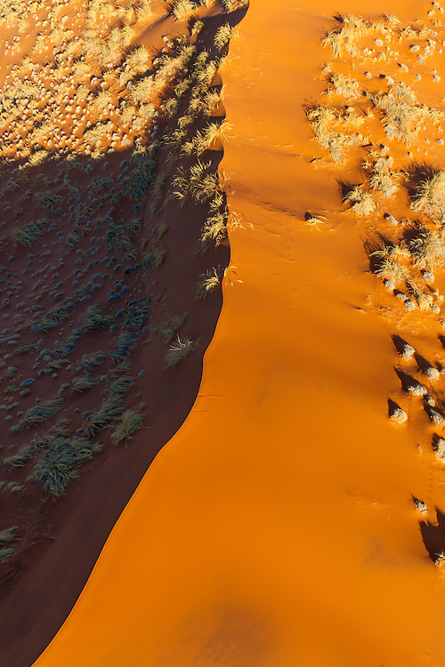 red sand dunes as viewed from a hot air balloon ride, Dead Vlei, Namibrand nature reserve, Sossusvlei Area, Namibia