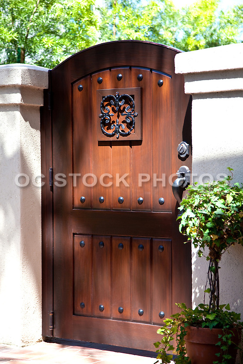 Wood Stained Garden Gate