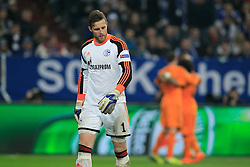 26.02.2014, Veltins Arena, Gelsenkirchen, GER, UEFA CL, Schalke 04 vs Real Madrid, Achtelfinale, im Bild Torwart, Goalkeeper Ralf Faehrmann (FC Schalke 04 #1) enttaeuscht nach dem 5:0 durch Gareth Bale (Real Madrid CF #11), Enttaeuschung, Pech, Trauer, negativ // during UEFA Champions League last sixteen match between Schalke 04 and Real Madrid CF at the Veltins Arena in Gelsenkirchen, Germany on 2014/02/26. EXPA Pictures © 2014, PhotoCredit: EXPA/ Eibner-Pressefoto/ Schueler<br /> <br /> *****ATTENTION - OUT of GER*****